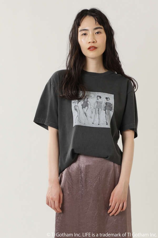 LIFE フォトプリントTシャツ