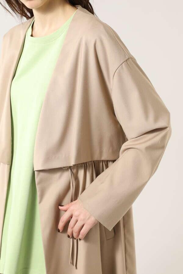 ノーカラーコート