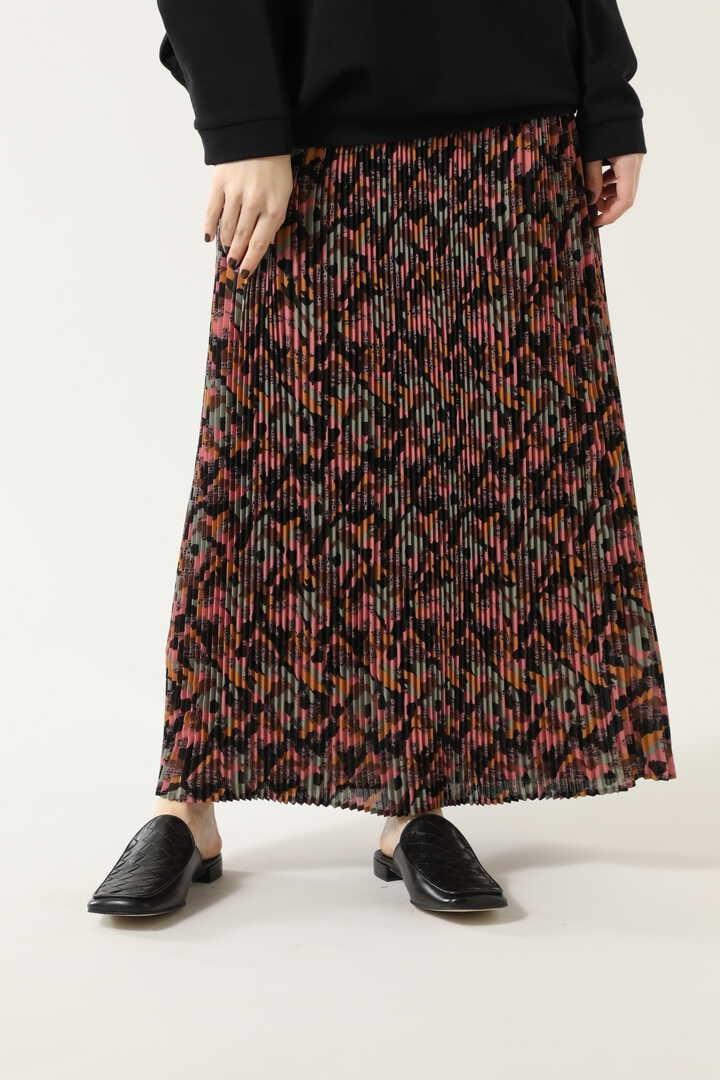 カモフラージュプリントプリーツスカート
