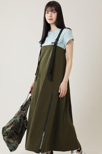 <THOUSAND MILE × GENE HEAVENS>クロスストラップロングジャンパースカート