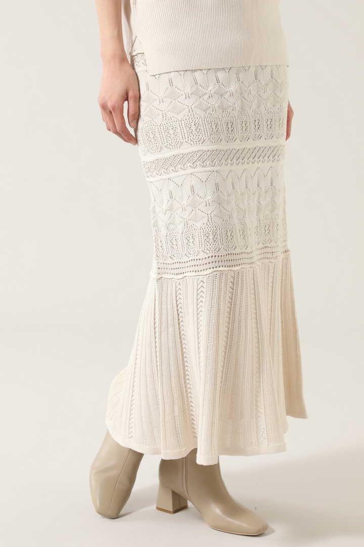 レース編みニットスカート