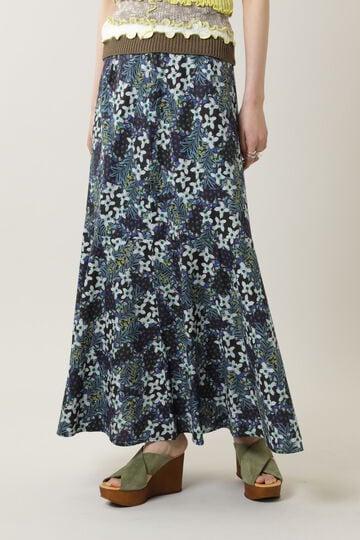 フラワープリントスカート