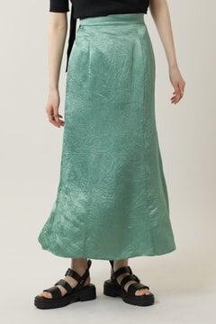 【先行予約 5月中旬-5月下旬入荷予定】ワッシャーサテンナロースカート