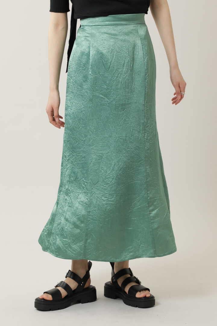 ワッシャーサテンナロースカート