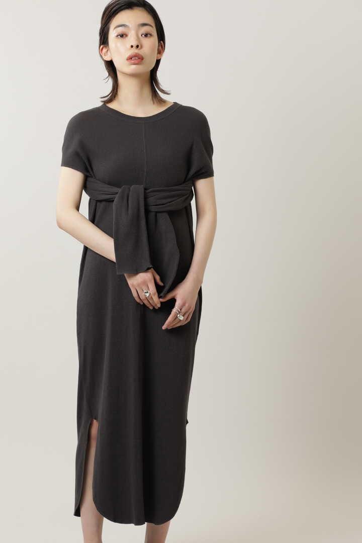 アームスリットリブドレス