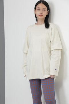 <ROSE BUD別注>ChampionレイヤードロングTシャツ