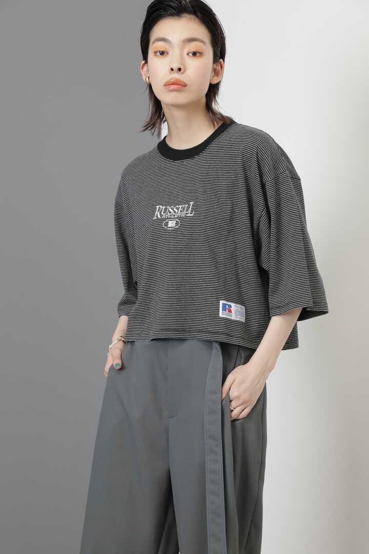 <RUSSELL ATHLETIC×CREOLME>クロップドボーダーTシャツ