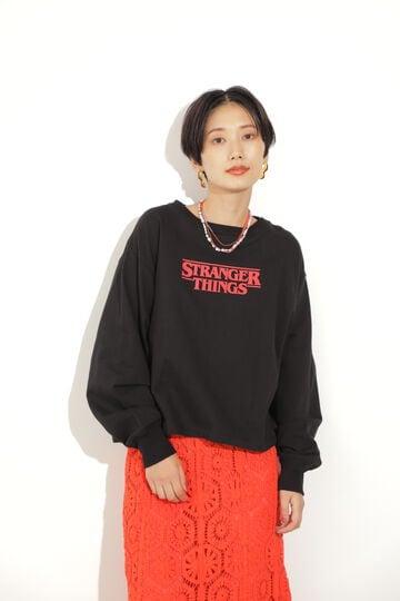 <ROSE BUD別注>Stranger Things クロップドプリントスウェット