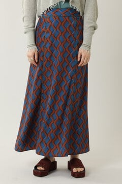 【先行予約 6月下旬-7月上旬入荷予定】ナロープリントロングスカート