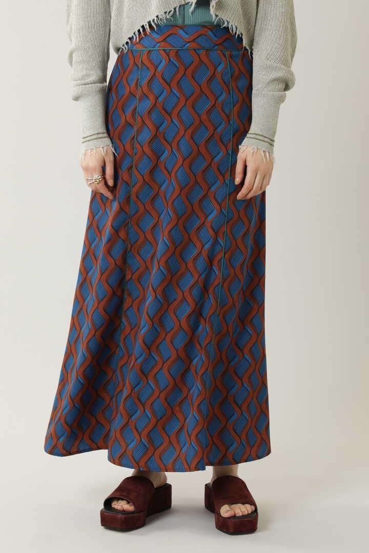 ナロープリントロングスカート