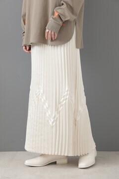 【先行予約 8月下旬-9月上旬入荷予定】デザインプリーツスカート