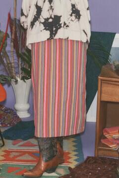 マルチストライプストレートスカート