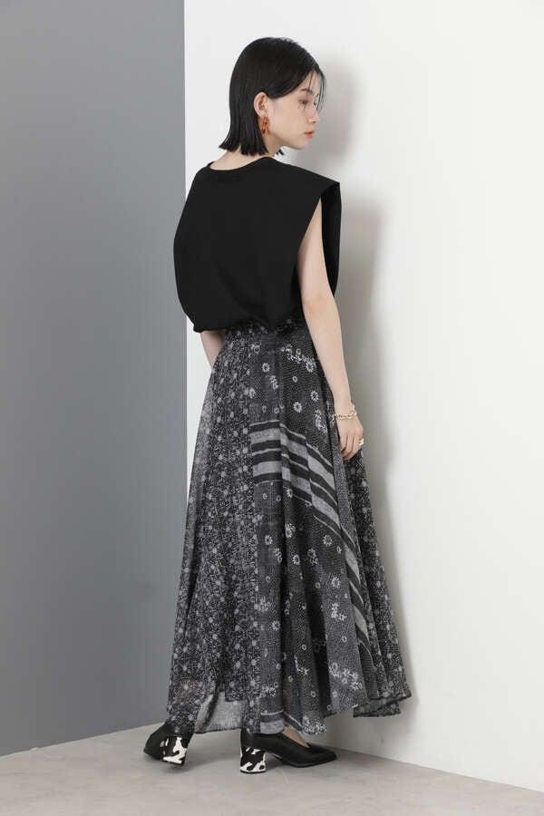 キルトプリントスカート
