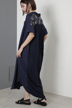 レースヨークロングシャツドレス