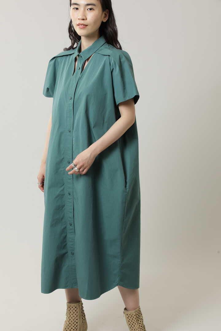 カットアウトシャツドレス