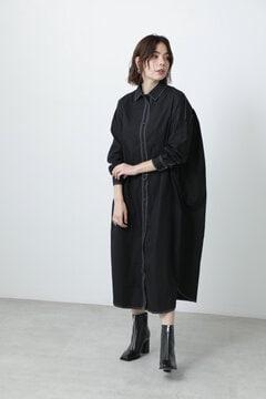 ステッチコットンシャツドレス