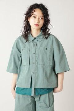 メッシュレイヤードシャツ