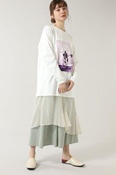フォトグラフィックレイヤードドレス