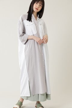 ワークポケットパネルマキシシャツドレス