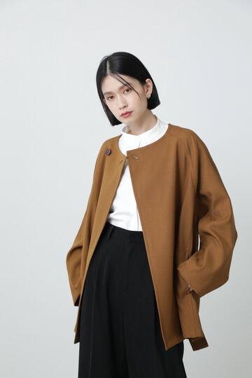 <ROSE BUD別注>ノーカラーミドルコート