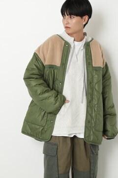 リバーシブルボア&キルティングジャケット