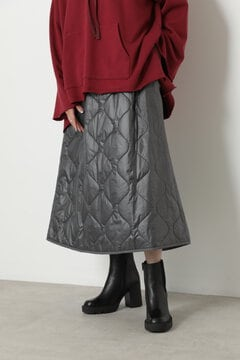 キルティングジップスカート