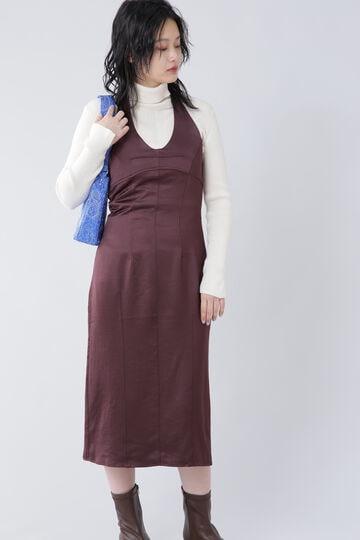 ホルターネックスリップドレス