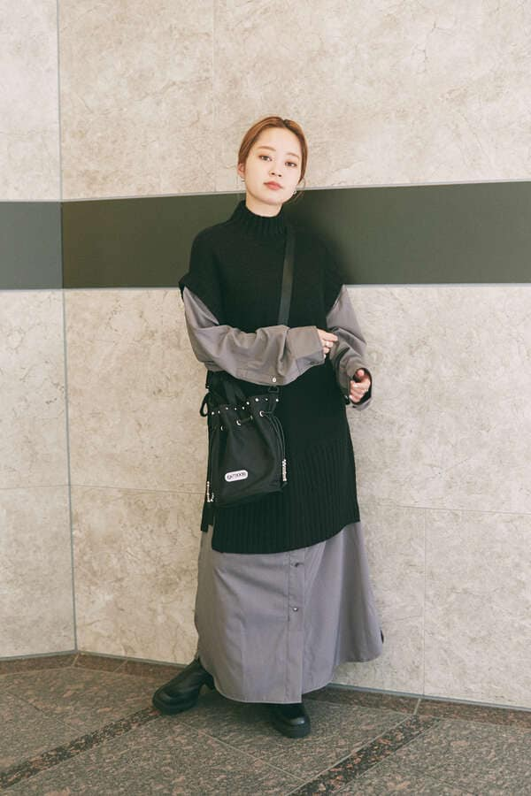 <ROSE BUD別注>巾着ショルダーバッグ