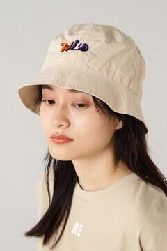 ロゴ刺繍バケットハット