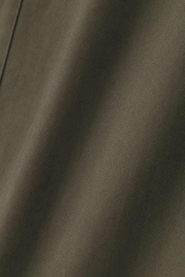 [洗える]ツイルストレッチナロースカート