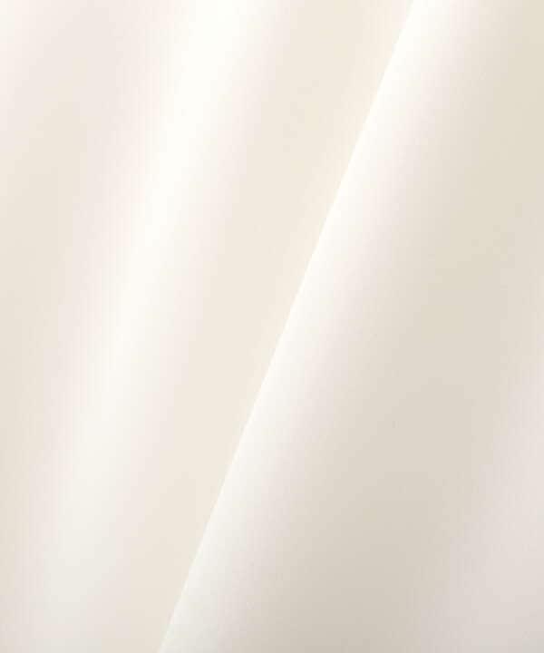 [洗える]バー釦ラッフルブラウス