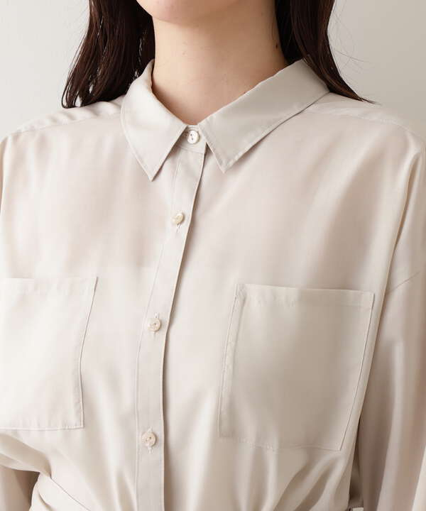 [洗える]シアーシャツ