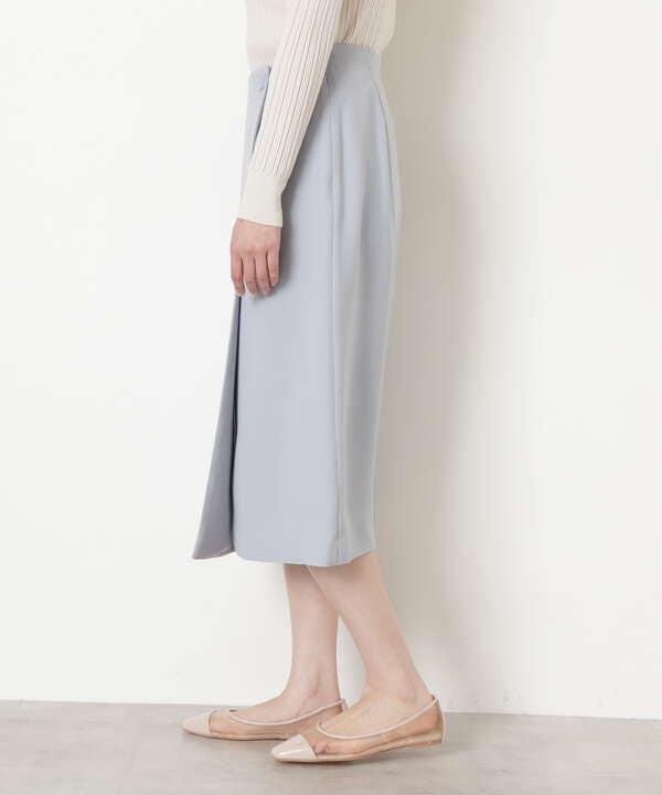 [洗える]ラップ風ストレートスカート