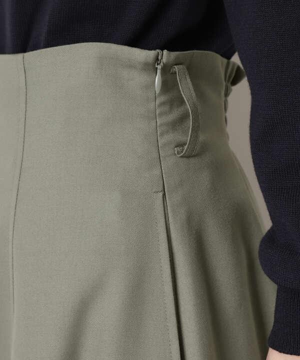 [洗える]バックルベルトフレアスカート
