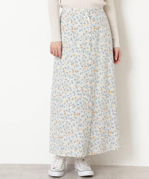 [洗える]フラワープリントスカート
