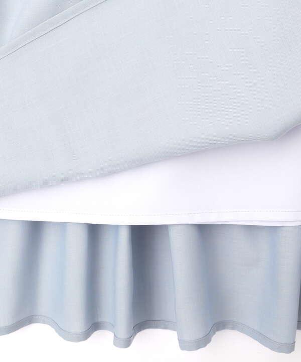 [洗える]シャンブレータックスカート