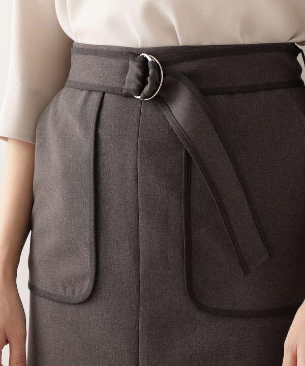 バイカラータイトスカート