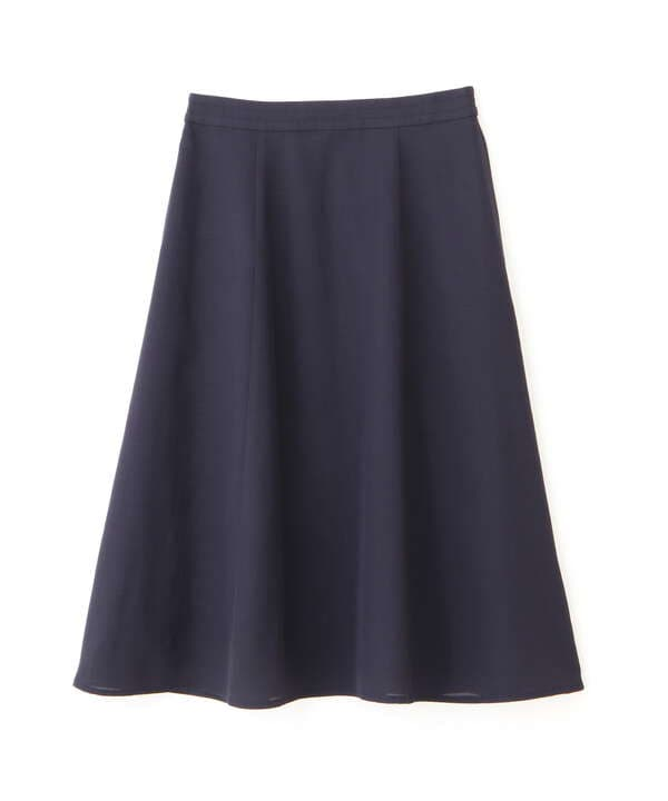 [洗える]リネンライクツイルフレアスカート