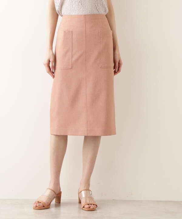 [洗える]ポケットディテールストレートスカート