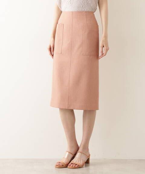 【先行予約4月中旬-4月下旬入荷予定】ポケットディテールストレートスカート