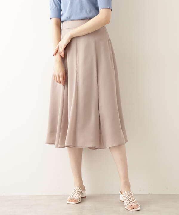 シアーサテンゴアードスカート