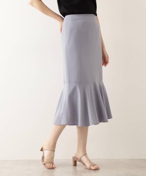 [洗える]切替ヘムマーメイドスカート