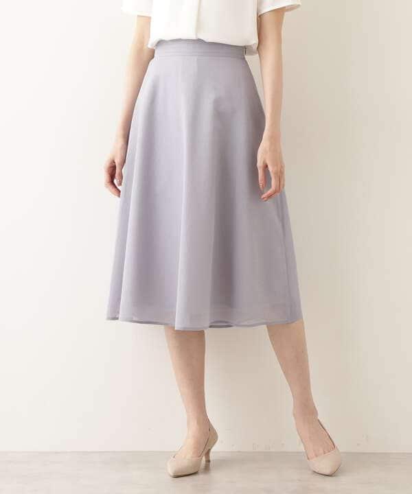 [洗える]リネンライクシアースカート