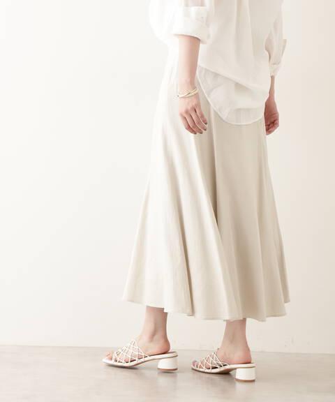 【先行予約5月下旬-6月上旬入荷予定】アシメゴアードスカート