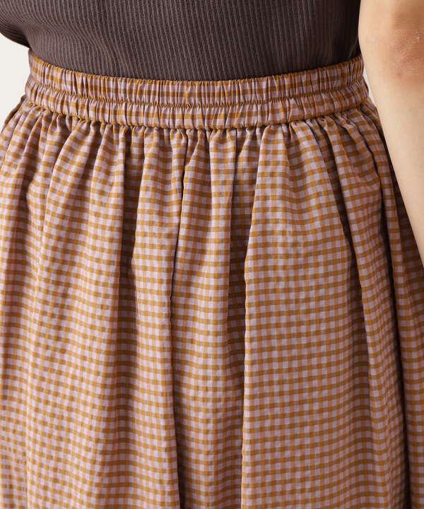 【Petit LUXE】ギンガムギャザースカート