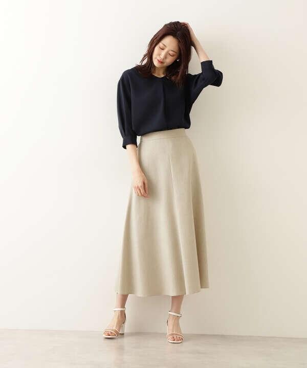 【Petit LUXE】麻混フレアスカート