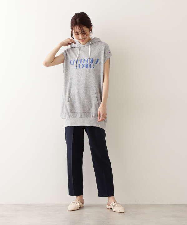 [洗える]リネンライクタックパンツ