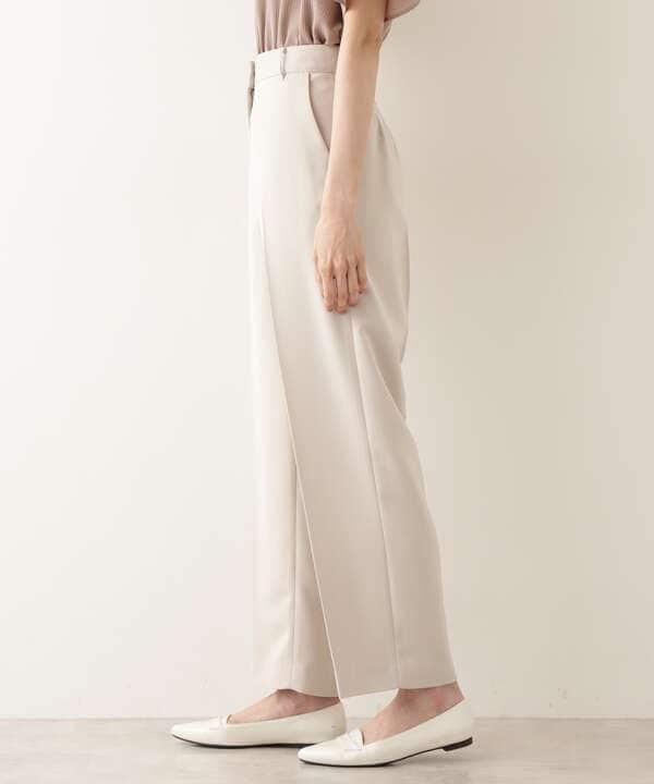 [洗える]ハイツイストべネストレートワイドパンツ