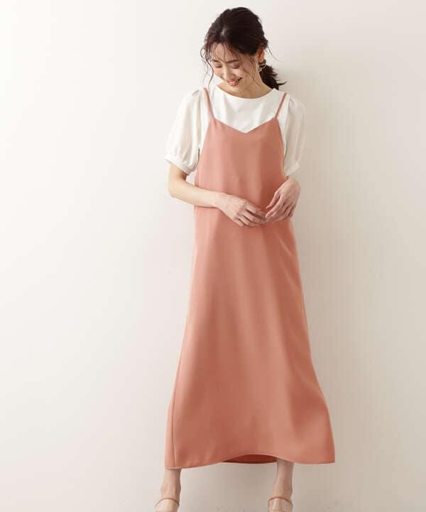 [洗える]キャミワンピース