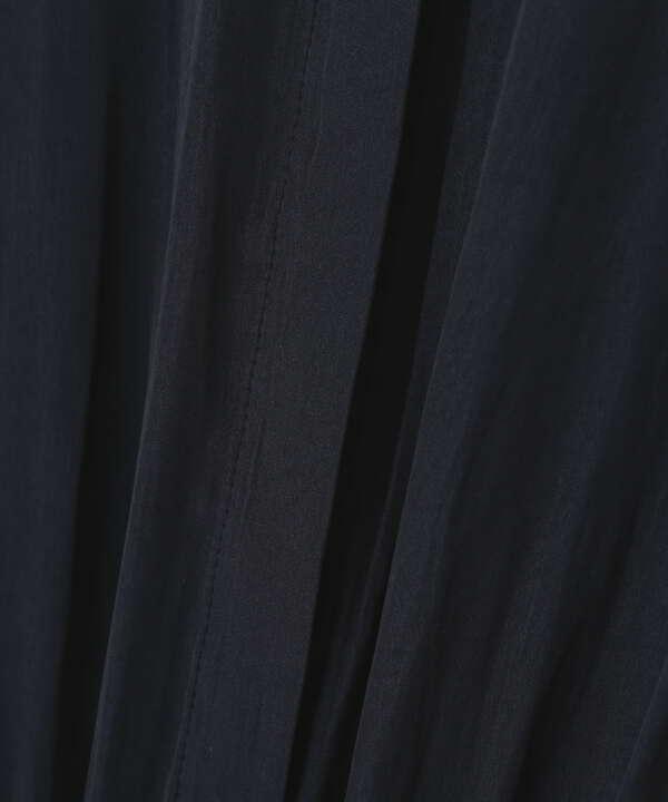 [洗える]割繊デシンギャザーワンピース